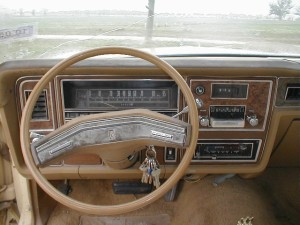 A Mercury dashboard with 8-track player.