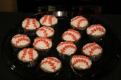 Wendy made baseball cupcakes! Yummy!