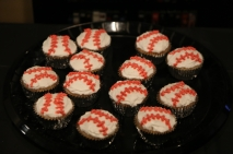 Wendy made baseball cupcakes! Yummy!