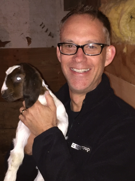Me and a baby goat.