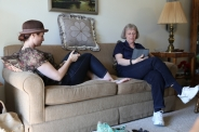 Hanging with Mom Hall at Gma VH's apartment.