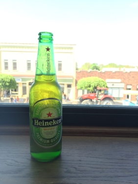 Our treat after a hot afternoon parade... a rest in the Heineken Loft.