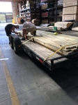 Getting lumber at Menards.