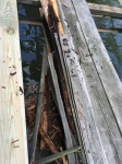 We discovered some nasty, rotted wood while removing the old decking.