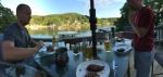 Dinner on the deck. Fabulous!