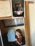 """On the bulletin board at """"The Worker"""" there was a pic of cousin Kathryn right above a pic of Tay!"""