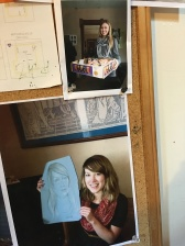 "On the bulletin board at ""The Worker"" there was a pic of cousin Kathryn right above a pic of Tay!"