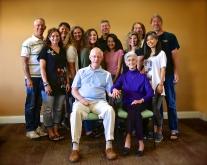 All the kids and a good bit of the grandkids celebrate Grandma Jeanne
