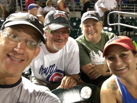 VWs and McQs enjoying a summer evening of baseball at Principal Park!