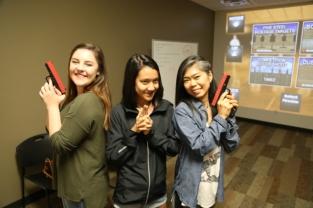 Emma, Ellie, and Kumi. Charlie's Angels.