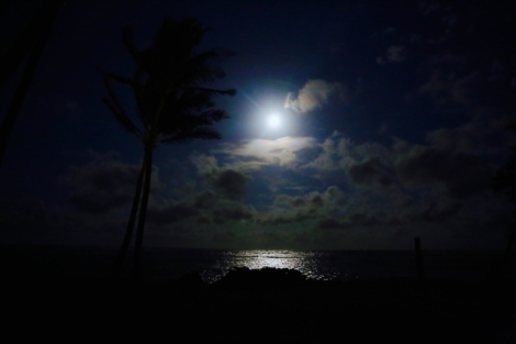 Full moon rising.
