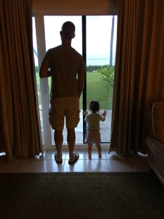 Me and Lydia checking out the surf.