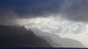 Na Pali Coast on the north west shore of Kauai