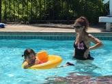 Fun in the pool.