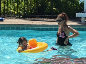 Fun in the pool.
