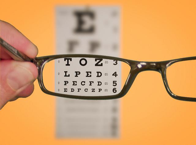 Glasses Eyechart Focus