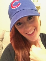 Madison got some Cubbie swag to help maintain her Midwest roots in SC!
