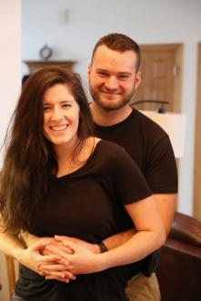 Newlyweds still looking pretty happy.