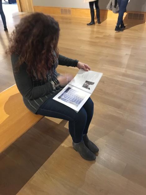 Wendy at Vivian Maier Exhibit