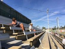 We fought the crowds at the Palm Springs Winter League.