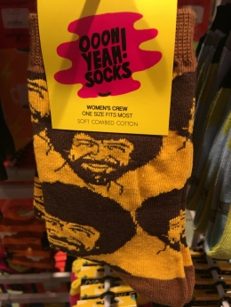 Bob Ross socks. Awesome.