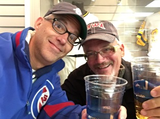Tom and Kevin at Iowa Cubs