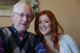 Madison with Grandpa Dean.