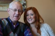 Madison with Grandpa Dean.
