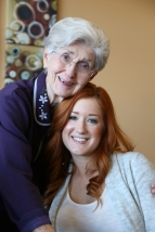 Madison with Grandma Jeanne.
