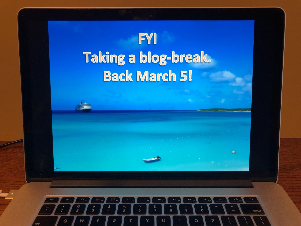 FYI: Time for a Blog Break