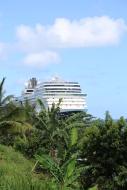 Eurodam docked in Ocho Rios.