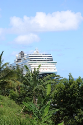 Eurodam docked in Ocho Rios.