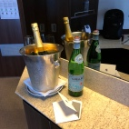 Gotta love complimentary bubbly for embarkation!