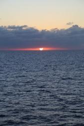 Sunset over the ocean.