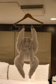 Our room stewards never failed to surprise us.