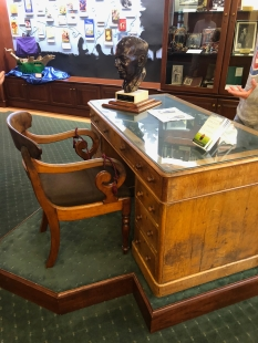 C.S. Lewis' desk at the Marion E. Wade Center.