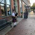 Scotch & Cigar night at Pella Opera House. Greeted by a piper.