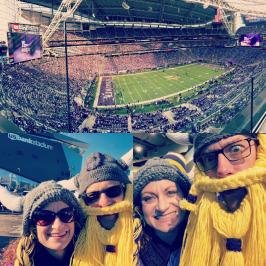 "First time at the Vikings' ""Mother Ship"""