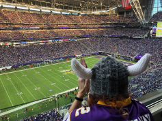 """Skol! Vikings! Let's win the game!"""