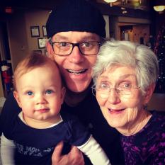 Milo, Tom, and Great-Grandma Jeanne