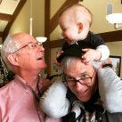 Milo, Papa Tom, and Great-Papa Dean
