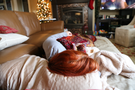 Maddy napping on Christmas day.