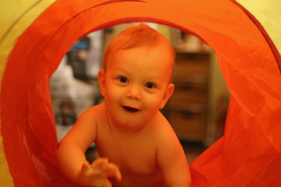 Nothing like a tunnel for your birthday!