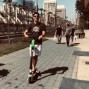 Scootin' around San Diego.