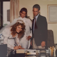 Me c.1988 officiating my first wedding.